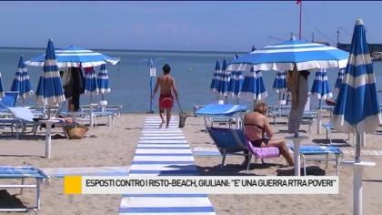 """Esposti contro i risto – beach, Giuliani: """"E' una guerra tra poveri"""" – VIDEO"""