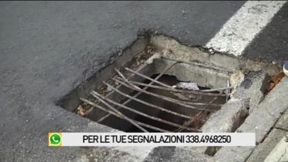 Tombino pericoloso in via del Ponte a Fano – VIDEO