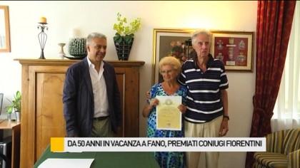 Da 50 anni in vacanza a Fano, premiati i coniugi Baldinotti – VIDEO