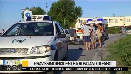 Gravissimo incidente a Rosciano di Fano –  VIDEO