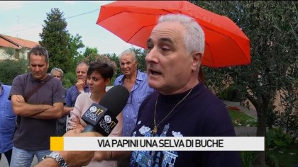 Via Papini, una selva di buche – VIDEO