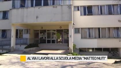 """Al via i lavori alla scuola media """"Matteo Nuti"""" – VIDEO"""