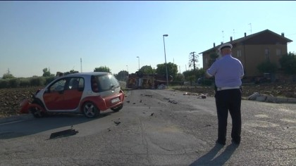 Incidente a Bellocchi di Fano. Ferite due persone – VIDEO