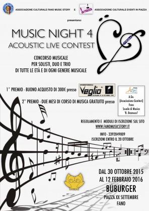 """""""Music Night"""", aperte le iscrizioni per il concorso acustico"""