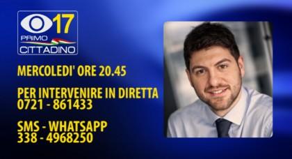 Il sindaco di Cartoceto Rossi in diretta su Fano TV