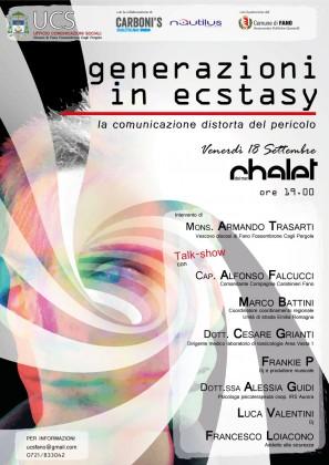 """""""Generazioni in ecstasy"""", una serata per parlare degli adolescenti e le nuove droghe"""