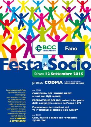 Torna la Festa del Socio della BCC di Fano, sabato 12 al Codma