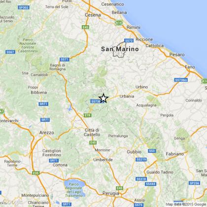 Scossa di terremoto di 3.9 a Mercatello sul Metauro