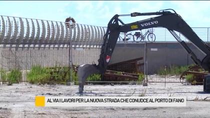 Al via i lavori per la nuova strada che conduce al porto di Fano – VIDEO