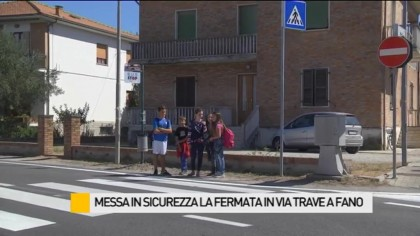 Messa in sicurezza la fermata dell'autobus in via Trave – VIDEO