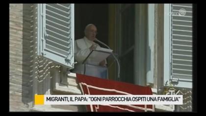"""Migranti, il Papa: """"Ogni Parrocchia ospiti una famiglia"""". La situazione a Fano – VIDEO"""