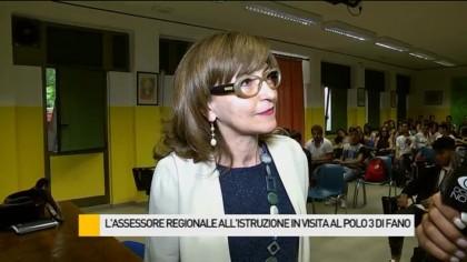 L'assessore regionale all'Istruzione in visita a Fano – VIDEO