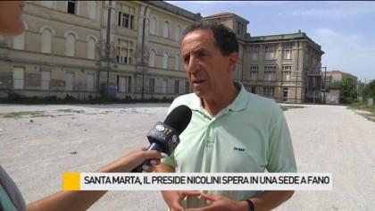 Santa Marta, il preside Nicolini spera in una sede distaccata a Fano – VIDEO