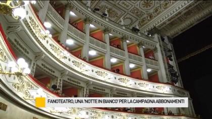 """FanoTeatro, una """"notte in bianco"""" per la campagna abbonamenti – VIDEO"""