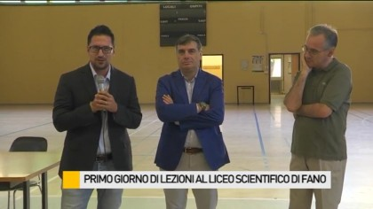Primo giorno di lezioni al Liceo Scientifico di Fano – VIDEO