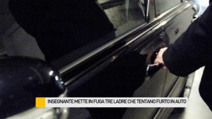 Insegnante mette in fuga tre ladre che tentato un furto nell'auto – VIDEO