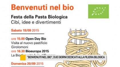 """""""Benvenuti nel Bio"""", due giorni dedicati alla filiera biologica – VIDEO"""