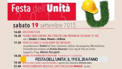 Festa dell'Unità, il 19 e 20 settembre a Fano – VIDEO