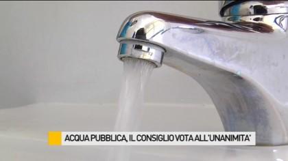 Acqua pubblica, il consiglio vota all'unanimità – VIDEO