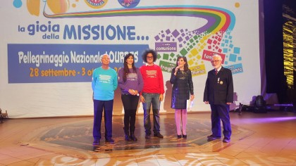 Luisa Corna, Pippo Franco e Simone Cristicchi a Lourdes con l'Unitalsi Marche