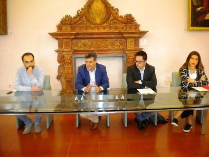 Foto conf stampa interventi Provincia PU su territorio fanese