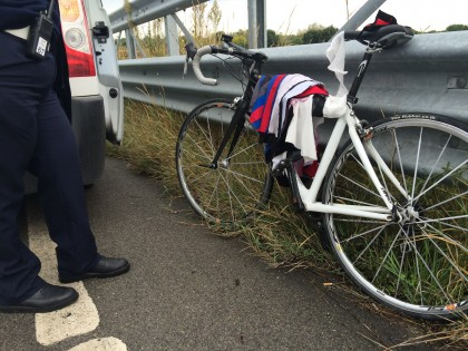 Ciclista Fanese si sente male, rianimato dal 118 e trasferito a Pesaro