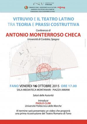 """""""Vitruvio e il teatro latino"""", venerdì una conferenza alla Memo"""
