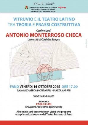 Vitruvio e il teatro latino, se ne parla venerdì alla Memo