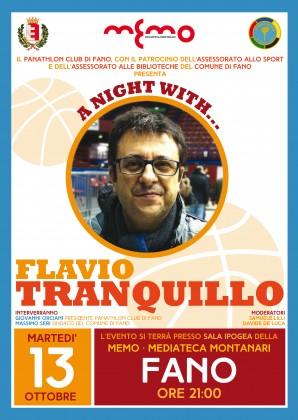 Il telecronista sportivo  Flavio Tranquillo sarà a Fano per presentare il suo ultimo libro