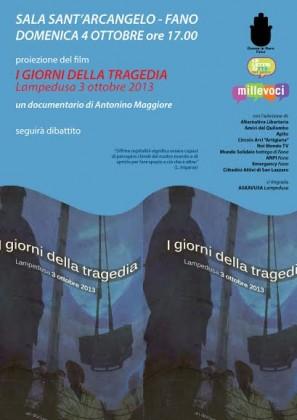 Vittime Lampedusa, al Sant'Arcangelo la proiezione di un film