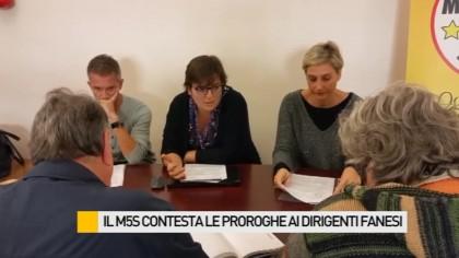 Il M5S contesta le proroghe ai dirigenti fanesi – VIDEO