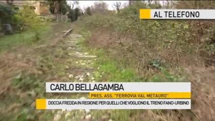 Doccia fredda in Regione per quelli che vogliono il treno Fano-Urbino – VIDEO