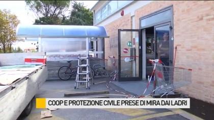 Furto lampo alla Coop, rubato un armadietto blindato con 2500 euro – VIDEO