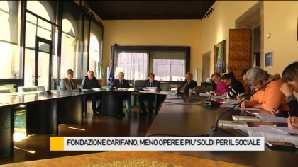 Fondazione Carifano, meno opere e più soldi per il sociale – VIDEO