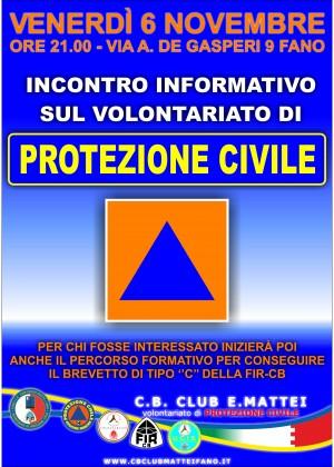 Venerdì un incontro per far conoscere il Volontariato di Protezione Civile