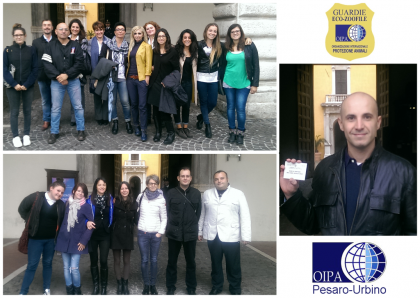 Giuramento di 20 nuove Guardie Zoofile OIPA di Pesaro