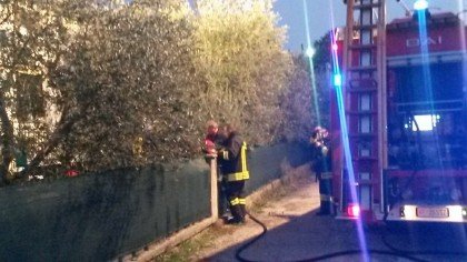 Incendio in un appartamento in via Aspio a Lucrezia di Cartoceto