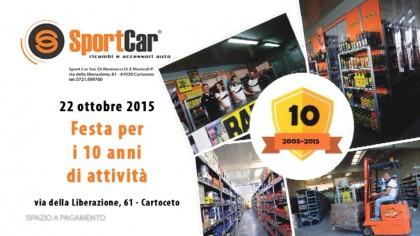 Festa per i 10 anni di attività di Sportcar