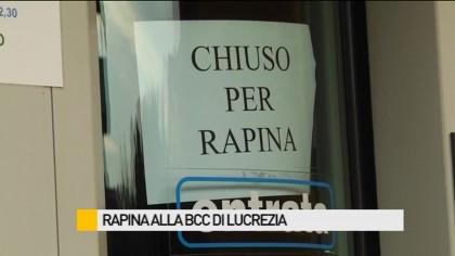 Rapina alla BCC di Lucrezia – VIDEO