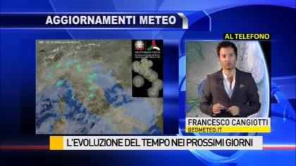 Previsioni meteo per i prossimi giorni – VIDEO