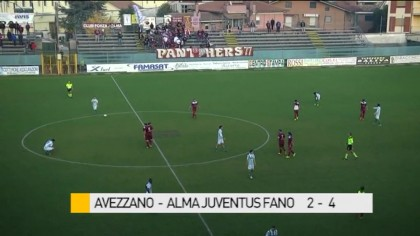 Avezzano – Alma Juventus Fano   2 – 4  – VIDEO