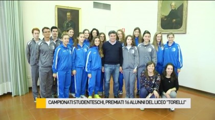 Campionati studenteschi, premiati 16 alunni del Liceo Scientifico Torelli – VIDEO