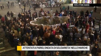 Attentati a Parigi, ondata di solidarietà nelle Marche – VIDEO