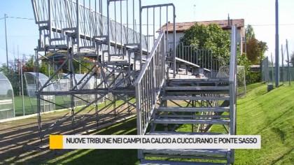 Nuove tribune nei campi da calcio a Cuccurano e Ponte Sasso – VIDEO