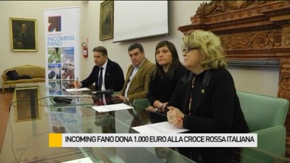 Incoming Fano dona 1.000 euro alla Croce Rossa Italiana – VIDEO