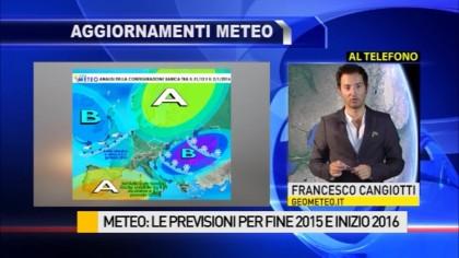 Ecco le previsioni meteo per i prossimi giorni – VIDEO