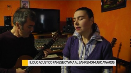 "Il duo acustico fanese Cywka al ""Sanremo Music Awards"" – VIDEO"