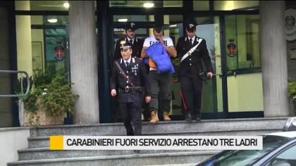 Carabinieri fuori servizio scoprono banda di ladri, arrestati tre romeni – VIDEO