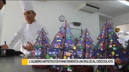 L'albero artistico di Fano diventa un dolce di cioccolato – VIDEO