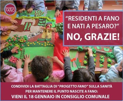 Residenti a Fano e nati a Pesaro ? No grazie